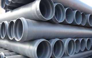 Трубы для напорной канализации: основные виды