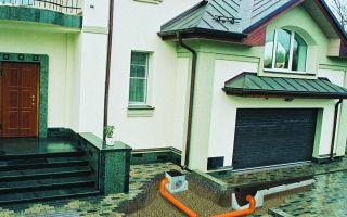 Водоотведение дождевых вод от дома: виды систем отвода и их особенности