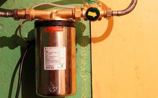 Использование насоса для повышения давления воды в водопроводе